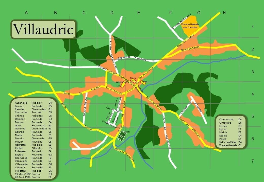 Plan Villaudric